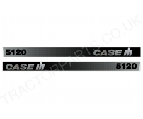 Case IH 5120 Bonnet Decal mk3/type3 Black and Silver - Top Quality Thermal Printed Vinyl Decal Transfer