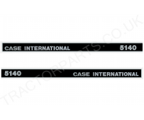 5140 Bonnet Decal mk1/type1 Black and Silver - Top Quality Thermal Printed Vinyl Decal Transfer For Case International