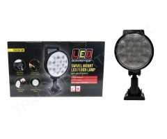 12V 24V Adjustable Swivel Mount LED Flood Lamp with Flood Beam IP67 and ECE Rated 156mmx288mmx86mm