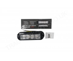 12V 24V Amber 180 Wide Angle Warning Lamps IP67 and ECE Rated 136mmx46mmx27mm