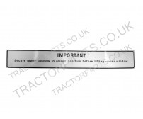 L Cab Replacement Secure Lower Window Sticker Warning Decal Fits Case International 85 95 74 84 Series DEC-124