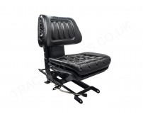 Replacement 2PC Moulded PVC Seat With Mountaing Brackets Fits International Tractors 276 B250 B275 434 414 444 354 374
