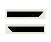 """L"" Cab Door Decal Sticker Black and Cream 84 85 Series"