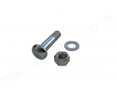 International Rear Wheel Rim Bolt 5/8 UNF Cup HEad Square 2 7/8 Inch (71.5mm) Long Complete with nut + washer