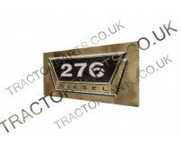 276 Decal Sticker With Metallic Gold- Top Quality Thermal Printed Vinyl Decal Transfer For International McCormick