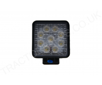 12-24V 4 Inch Square Universal 27W LED Mountable Work Light ECE Approved 110x128x55mm