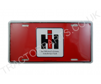 METAL INTERNATIONAL HARVESTER RED PLATE - 150mm x 300mm