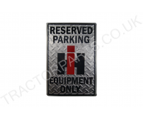 METAL INTERNATIONAL HARVESTER CHECKER PLATE - RESERVED PARKING 305mm x 455mm