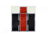 LOGO XL CAB PILLAR RED BLACK SILVER DECAL REPLACEMENT FOR IH  75MMWX80MMH