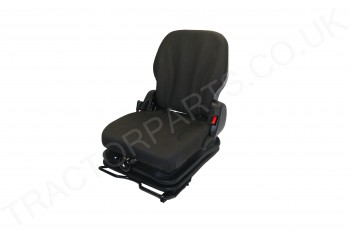 Forklift Truck Tractor Universal Fabric Seat With Suspension W/Armrest Seatbelt Fabric Mechanical Spring MGV35